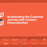 Accelerating the Customer Journey with Content Personalization