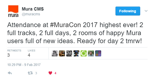 #MuraCon on Twitter